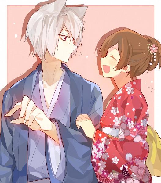 Tags: Anime, Sennen Suisei, Kamisama Hajimemashita, Tomoe (Kamisama Hajimemashita), Momozono Nanami, Sharp Nails, Haori