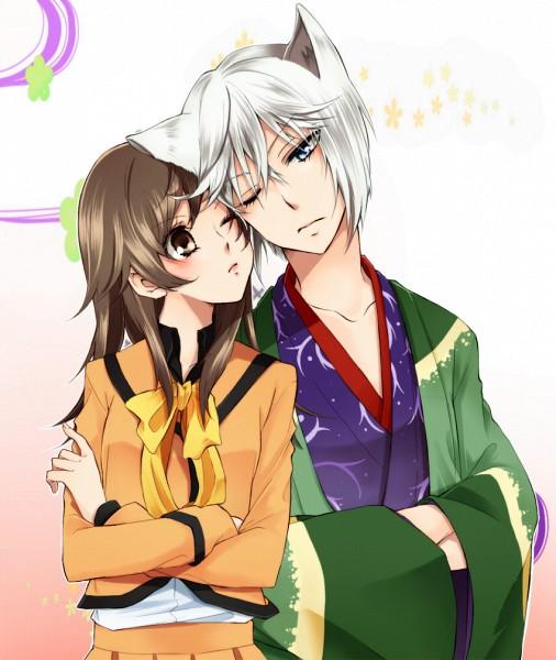Tags: Anime, You (Kimito), Kamisama Hajimemashita, Tomoe (Kamisama Hajimemashita), Momozono Nanami, Kitsunemimi, Crossed Arms