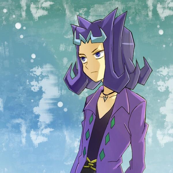 Tags: Anime, Pixiv Id 1047135, Yu-Gi-Oh! ZEXAL, Yu-Gi-Oh!, Kamishiro Ryoga, Purple Shirt, Expressionless