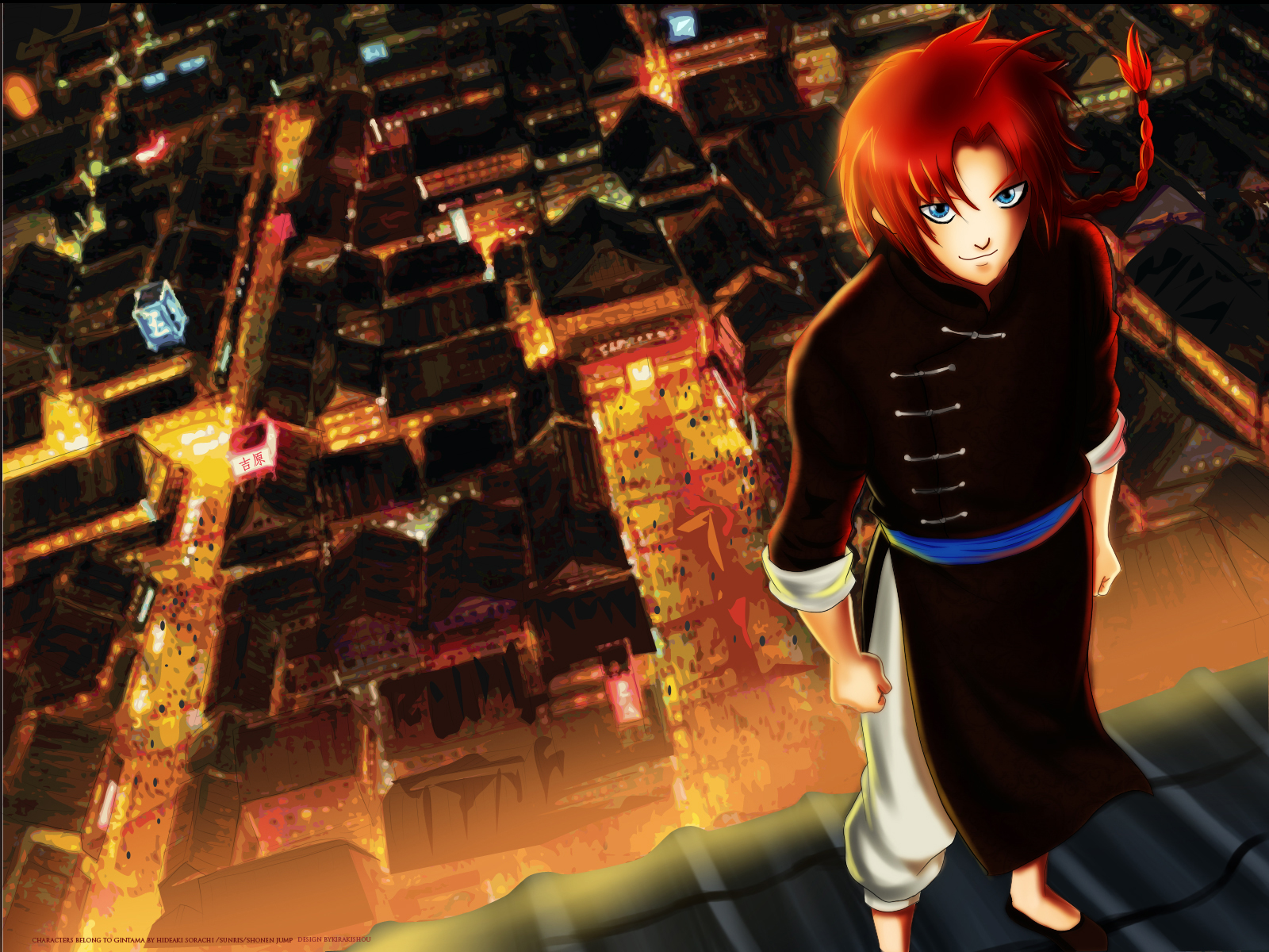 Tags Anime Gintama Kamui Gin Tama Red Light Wallpaper