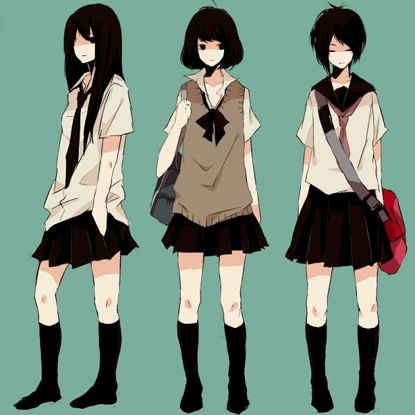 Tags: Anime, Kana (kwbr32), Knee High Socks, Sweater Vest, School Bag, Band
