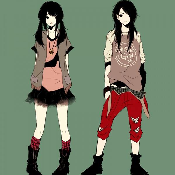 Tags: Anime, Kana (kwbr32), Symmetry, Opposites