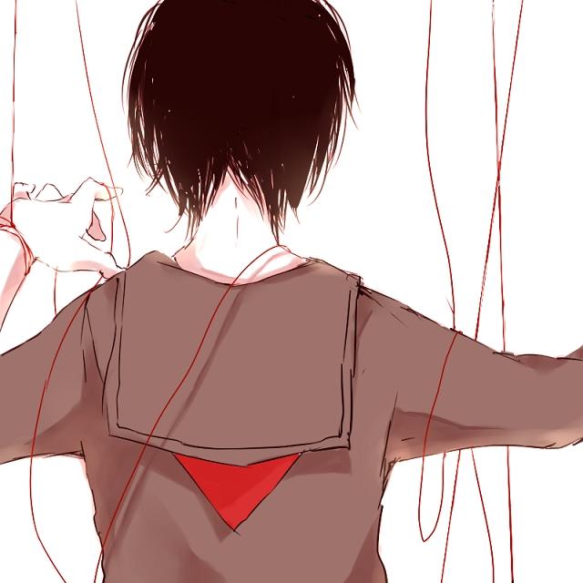 Tags: Anime, Kana (kwbr32), Red Thread, String