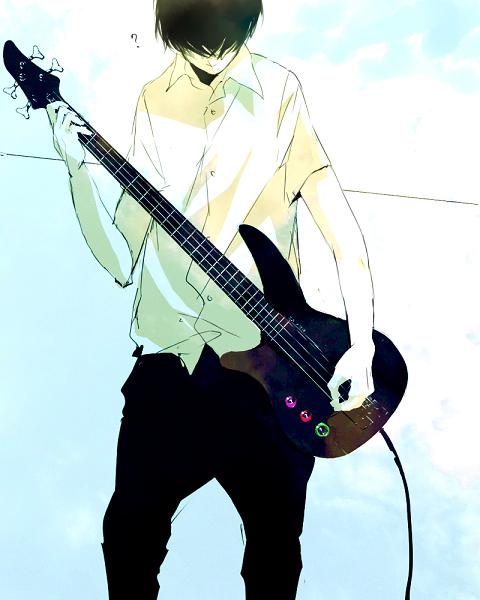 Tags: Anime, Kana (kwbr32), Bass Guitar, Question Mark, Guitar, Electric Guitar, Null