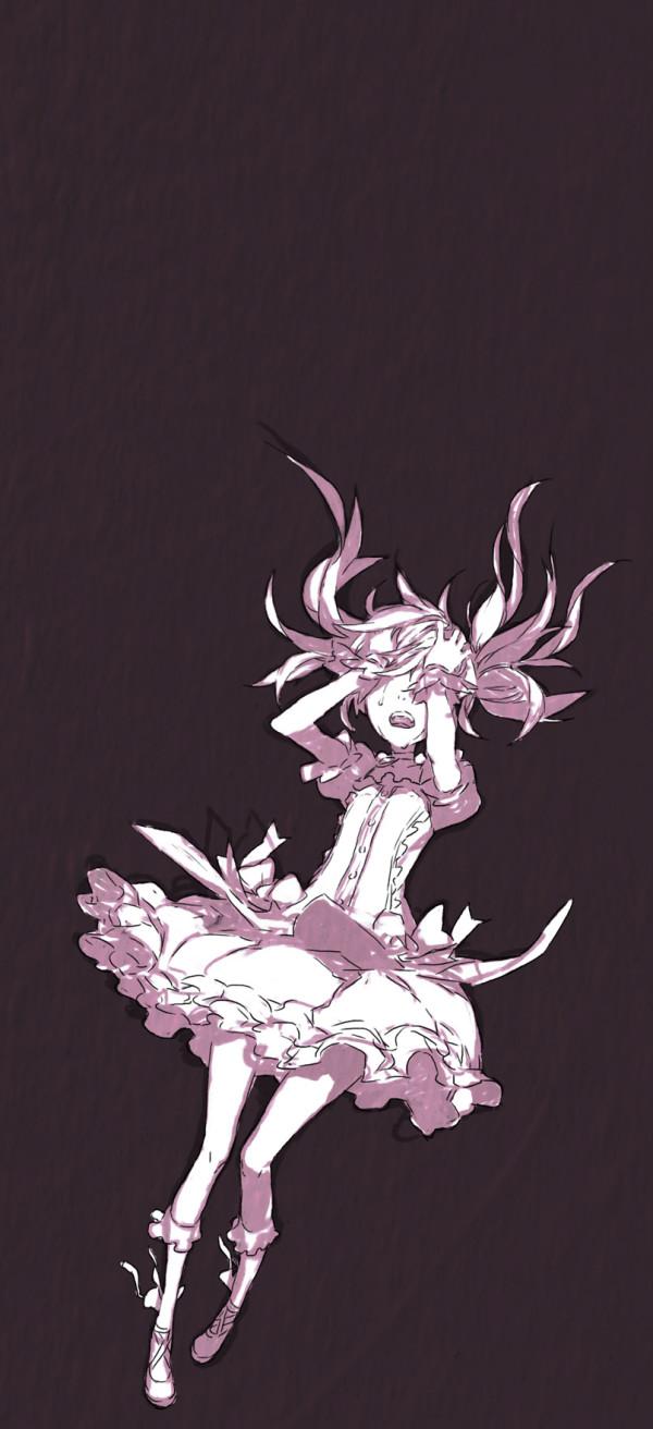 Tags: Anime, Miwa Shirow, Mahou Shoujo Madoka☆Magica, Kaname Madoka, Pink Skin, Sketch