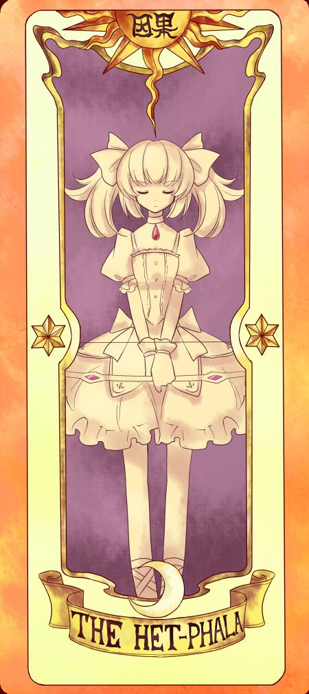 Tags: Anime, Yetworldview Kaze, Mahou Shoujo Madoka☆Magica, Cardcaptor Sakura, Kaname Madoka, Cardcaptor Sakura (Parody), Tarot Cards, Clow Cards, Fanart, Pixiv