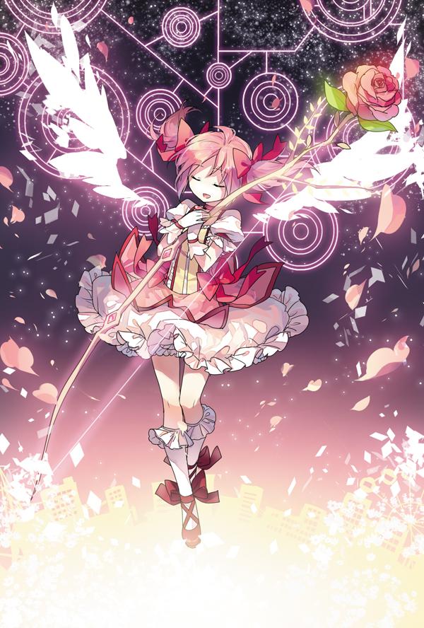 Tags: Anime, Rella, Mahou Shoujo Madoka☆Magica, Kaname Madoka, Fragments, Mobile Wallpaper