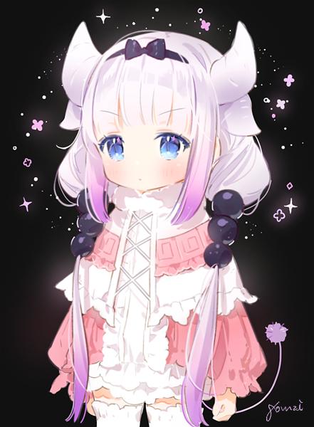Tags: Anime, gomzi, Kobayashi-san Chi no Maid Dragon, Kanna Kamui, Mobile Wallpaper, PNG Conversion