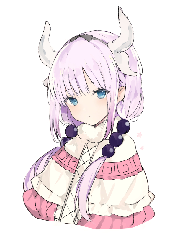 Tags: Anime, Lpip, Kobayashi-san Chi no Maid Dragon, Kanna Kamui, Poncho, PNG Conversion, Mobile Wallpaper