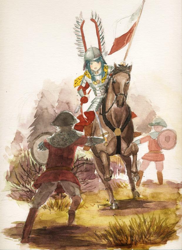 Tags: Anime, Kanokoga, Polish Clothes, History, Hussar, Pixiv, Original