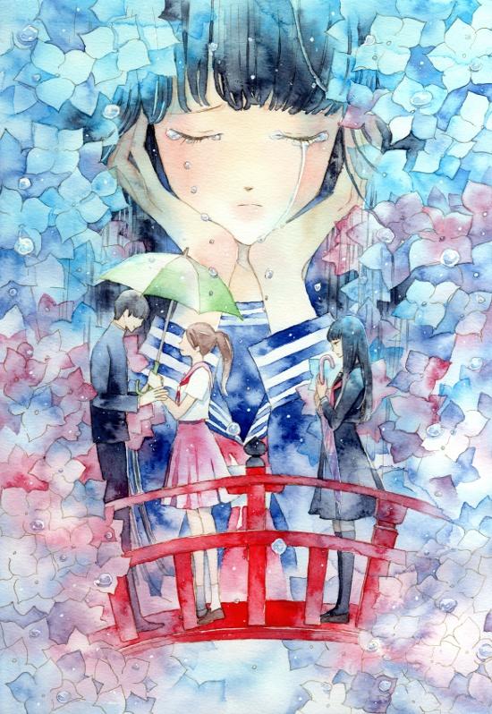 Tags: Anime, Kaoru / 馨, Original, Mobile Wallpaper, Watercolor, Traditional Media