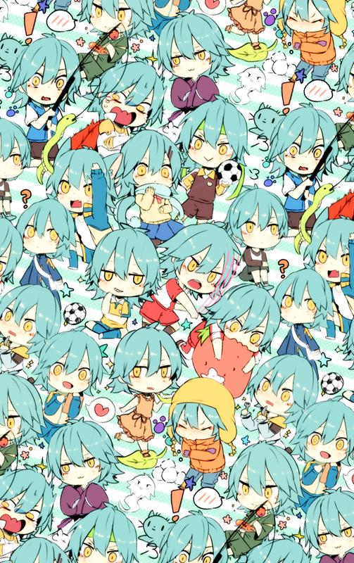 Tags: Anime, Shiuka (Shiupiku), Inazuma Eleven GO, Kariya Masaki, Track Pants, :>, Snowball, Fanart, Mobile Wallpaper, Fanart From Pixiv, Pixiv