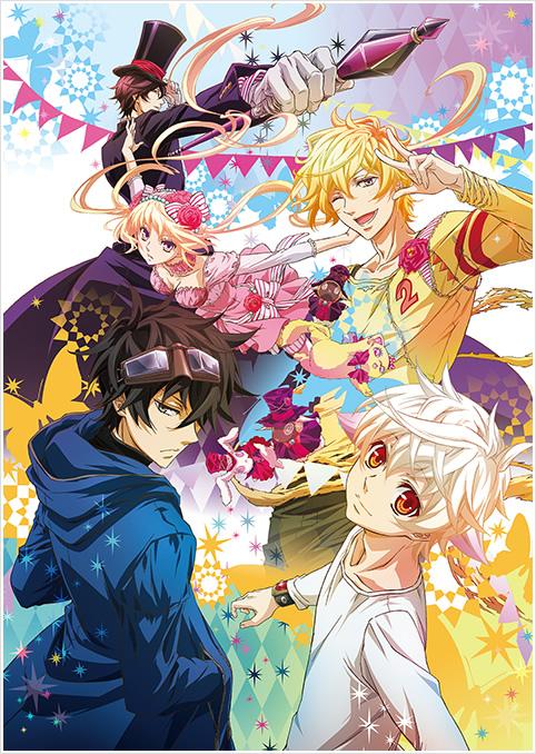 Tags: Anime, manglobe, Karneval, Usagi (Karneval), Hirato, Hitsuji (Karneval), Nai (Karneval), Yogi, Tsukumo (Karneval), Gareki, Official Art, Mobile Wallpaper