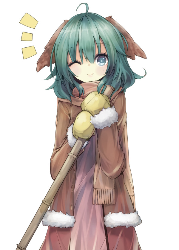 Tags: Anime, teco, Touhou, Kasodani Kyouko, Yellow Gloves, Observing, Yellow Handwear, Brown Jacket, Kyouko Kasodani