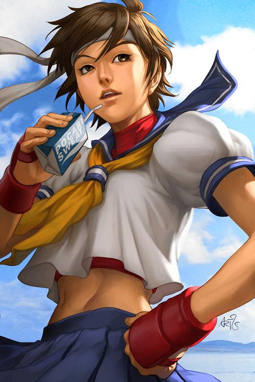 Kasugano Sakura Street Fighter Zerochan Anime Image Board