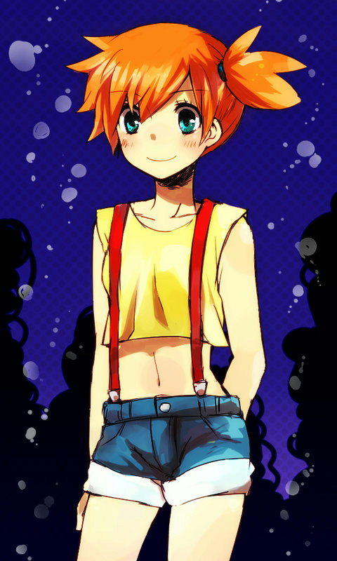 Tags: Anime, Pixiv Id 1296631, Pokémon, Kasumi (Pokémon), Mobile Wallpaper, Misty