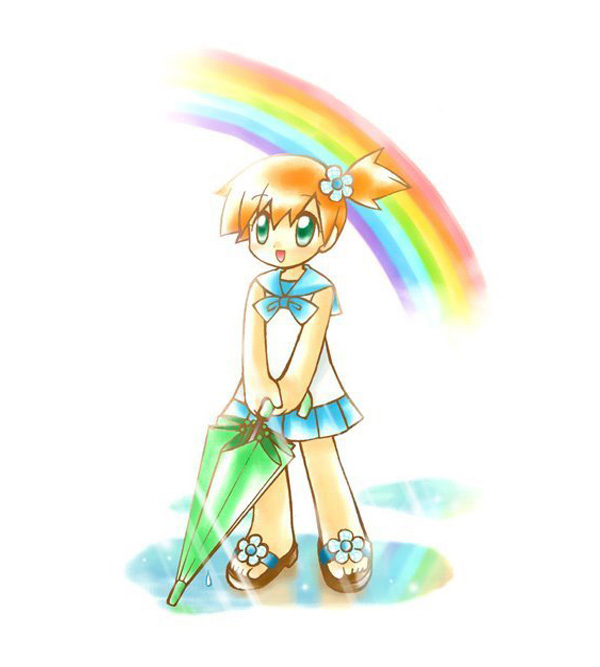 Tags: Anime, Pokémon, Kasumi (Pokémon), Me Snowdon (Cosplay), Puddle, Artist Request, Misty