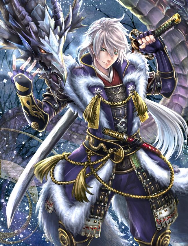 Tags: Anime, Pixiv Id 3645796, Katakura Shigenaga, PNG Conversion, Pixiv, Original, Sengoku Taisen Iracon 5