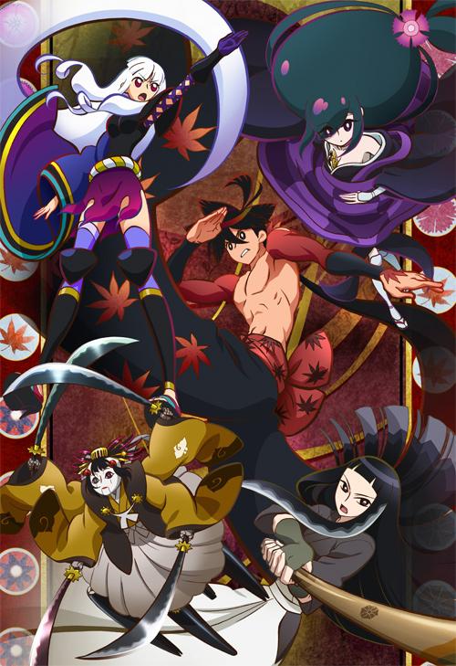 Tags: Anime, Katanagatari, Yasuri Shichika, Kiguchi Zanki, Biyorigou, Yasuri Nanami, Togame, Mobile Wallpaper, Sword Story