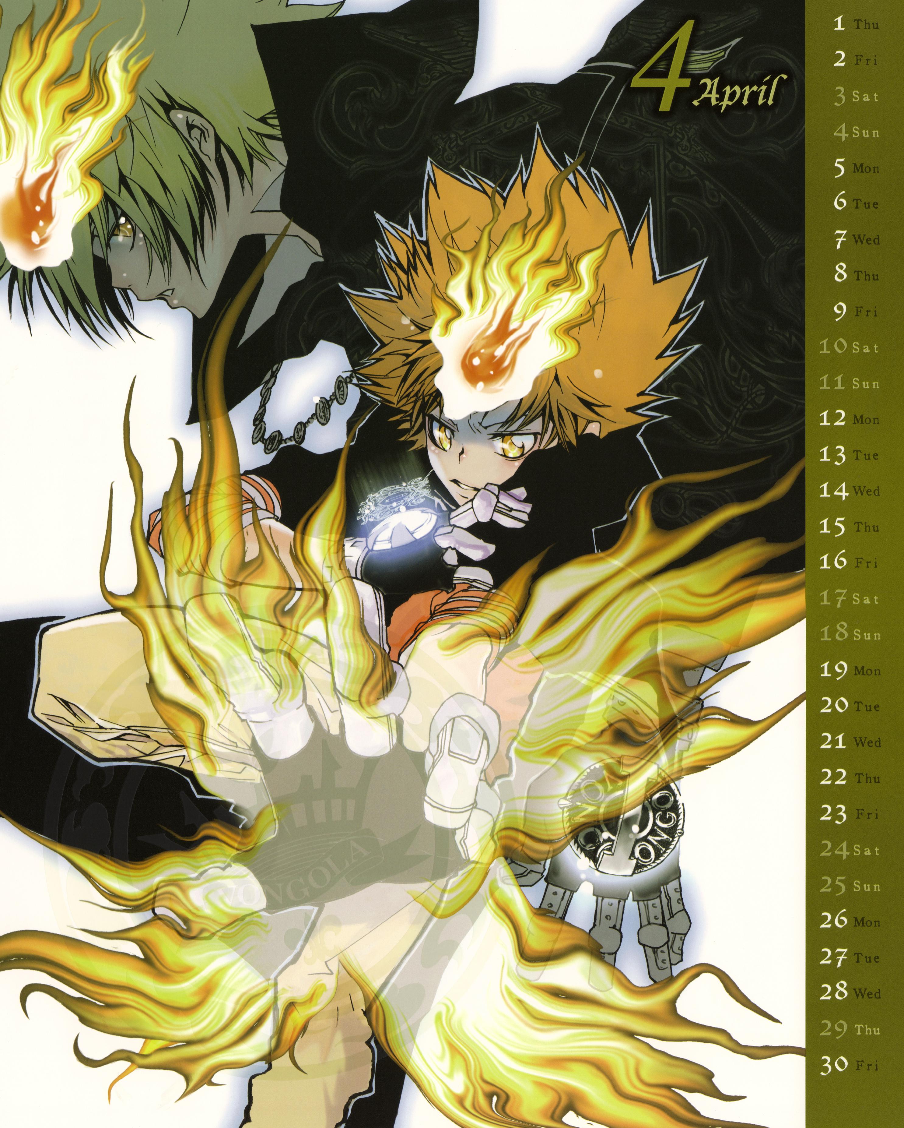 Khr Manga Calendar 2010
