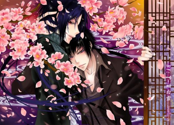 Tags: Anime, Katekyo Hitman REBORN!, Rokudou Mukuro, Hibari Kyoya, Cherry Tree