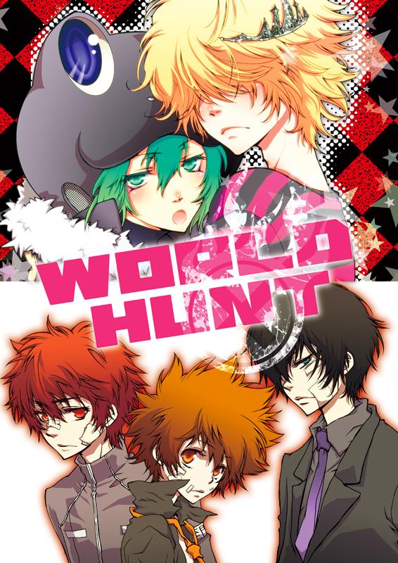Tags: Anime, WORLD HUNT, Katekyo Hitman REBORN!, Kozato Enma, Fran, Belphegor, Hibari Kyoya, Sawada Tsunayoshi, Frog Hat, Mobile Wallpaper