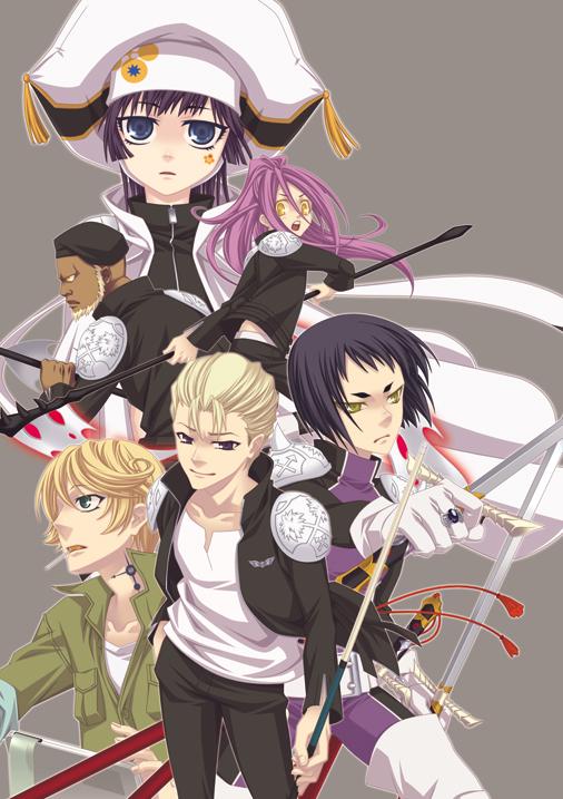 Tags: Anime, Katekyo Hitman REBORN!, Tazaru, Nosaru, Gamma (Katekyo Hitman REBORN!), Genkishi, Spanner, Yuni, Mafia, Millefiore, Mechanic, Slicked Back Hair, Fanart