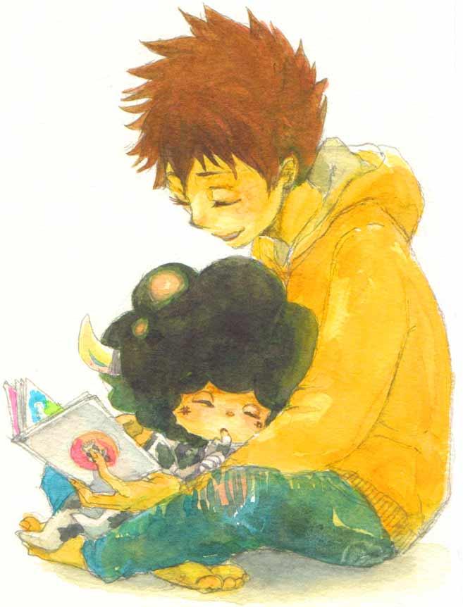 Tags: Anime, Katekyo Hitman REBORN!, Sawada Tsunayoshi, Lambo, Thumbsucking