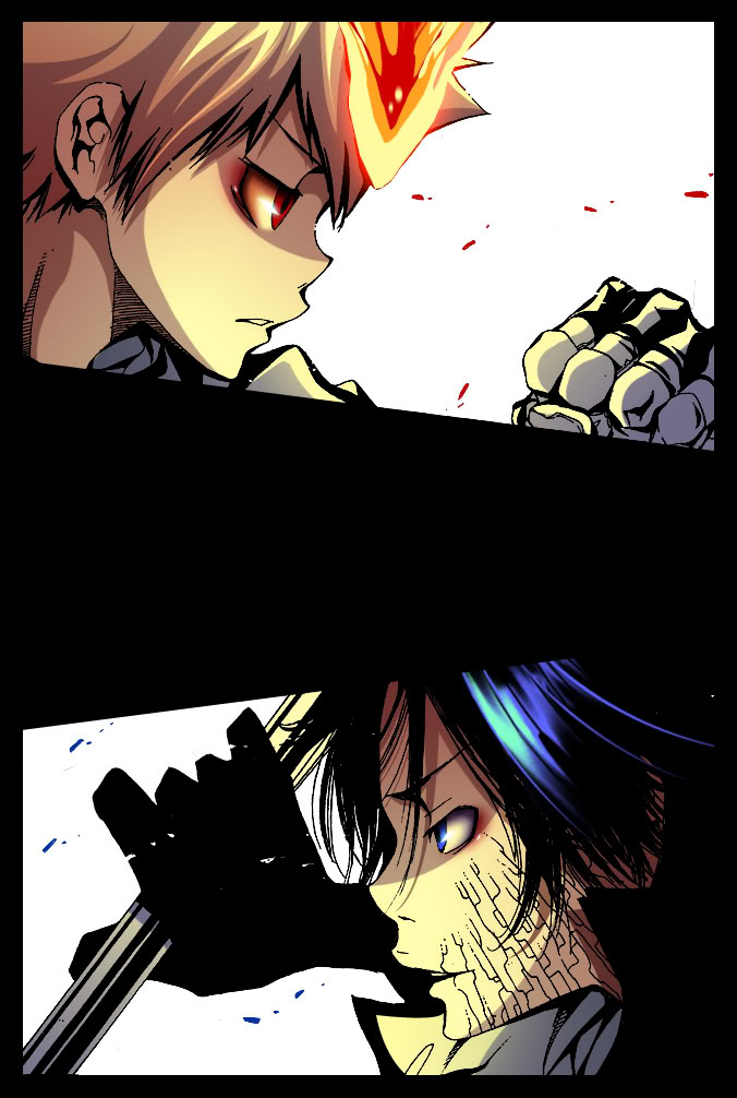Tags: Anime, Flamebier, Katekyo Hitman REBORN!, Sawada Tsunayoshi, Rokudou Mukuro, Mobile Wallpaper, Colorization