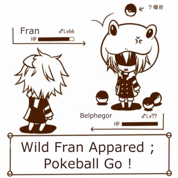 Tags: Anime, Pixiv Id 945784, Katekyo Hitman REBORN!, Pokémon, Fran, Belphegor, Frog Hat, Pokémon (Parody)