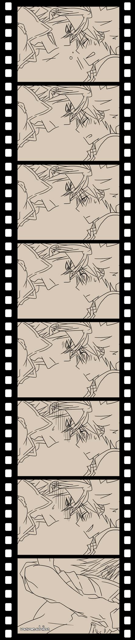 Tags: Anime, Pixiv Id 2282446, Katekyo Hitman REBORN!, Colonnello, Sawada Tsunayoshi, Filmstrip, Forehead Against Forehead, Comic