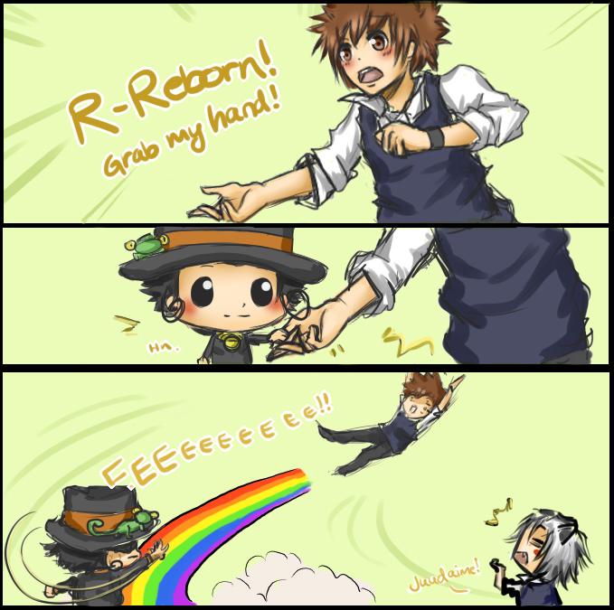 Tags: Anime, Katekyo Hitman REBORN!, Sawada Tsunayoshi, Gokudera Hayato, Reborn, Grab My- Meme, deviantART