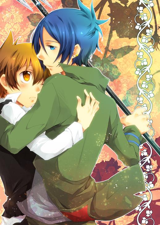 Tags: Anime, Buosu, Katekyo Hitman REBORN!, Rokudou Mukuro, Sawada Tsunayoshi, 6927, Doujinshi Cover, Fanart, Pixiv