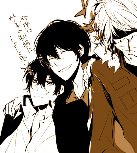 Tags: Anime, Ninn Jinn, Katekyo Hitman REBORN!, Fon, Dino Cavallone, Hibari Kyoya, Translated, Fanart, Requested Upload, Sketch