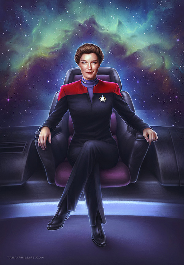 Tags: Anime, Tara Phillips, Star Trek, Kathryn Janeway, Galaxy, Fanart, ArtStation, Janeway Kathryn