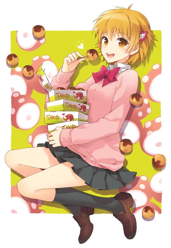 Tags: Anime, Nardack, Majin Tantei Nougami Neuro, Katsuragi Yako, Takoyaki, Fanart, Pixiv, Mobile Wallpaper