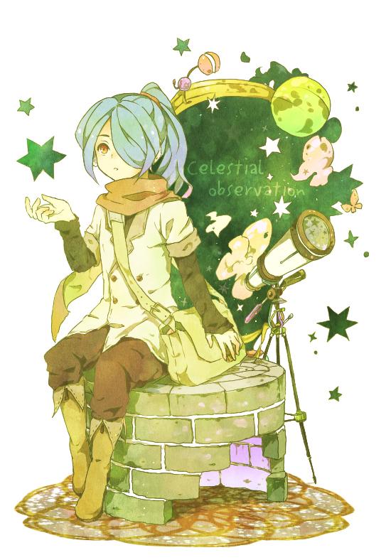 Tags: Anime, Inazuma Eleven, Kazemaru Ichirouta, Telescope, Mobile Wallpaper, Ichirouta Kazemaru