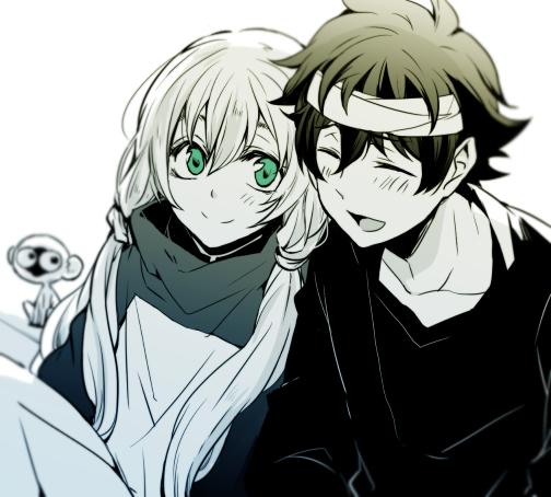 Tags: Anime, Yuna (Pixiv94502), Kekkai Sensen, White (Kekkai Sensen), Sonic Speed Monkey, Leonardo Watch