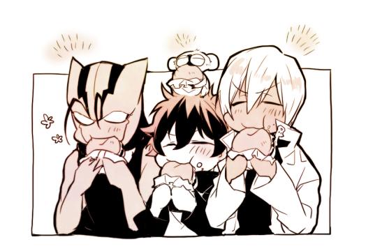Tags: Anime, Yuna (Pixiv94502), Kekkai Sensen, Sonic Speed Monkey, Zapp Renfro, Leonardo Watch, Zed O'Brien