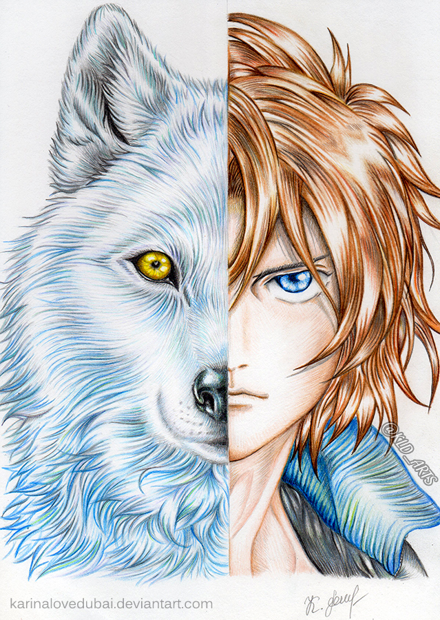Tags: Anime, Rin Renji, Wolf's Rain, Kiba (Wolf's Rain), Fanart, deviantART, Mobile Wallpaper, Self Made, Fanart From DeviantART, Traditional Media, Pencil (Medium)