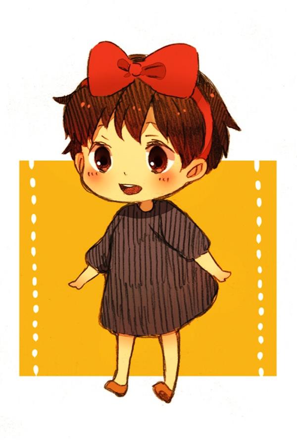 Tags: Anime, Hal (Honobono Bousouzoku), Studio Ghibli, Majo no Takkyuubin, Kiki (Majo no Takkyuubin), Mobile Wallpaper