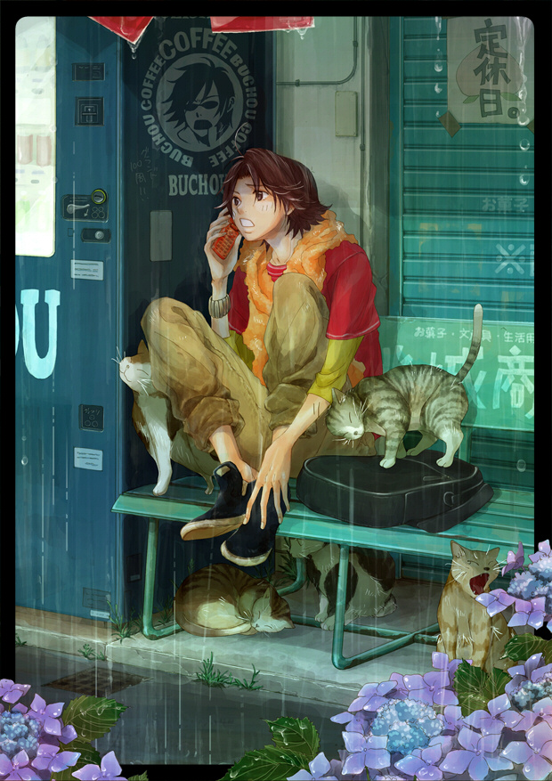 Tags: Anime, Pixiv Id 37570, Tennis no Ouji-sama, Kikumaru Eiji, Fanart, Pixiv, Mobile Wallpaper, Seigaku