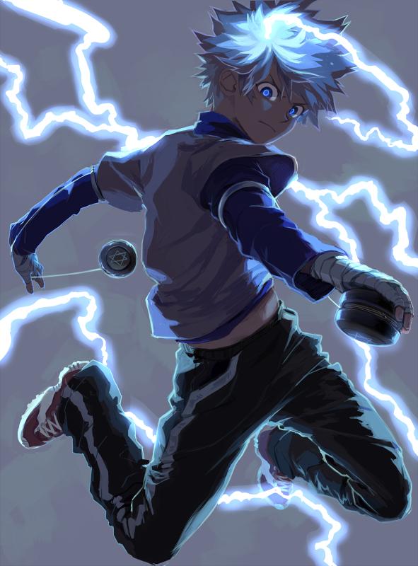 Tags: Anime, Skullcaps, Hunter x Hunter, Killua Zoldyck, Yo-yo, Fanart