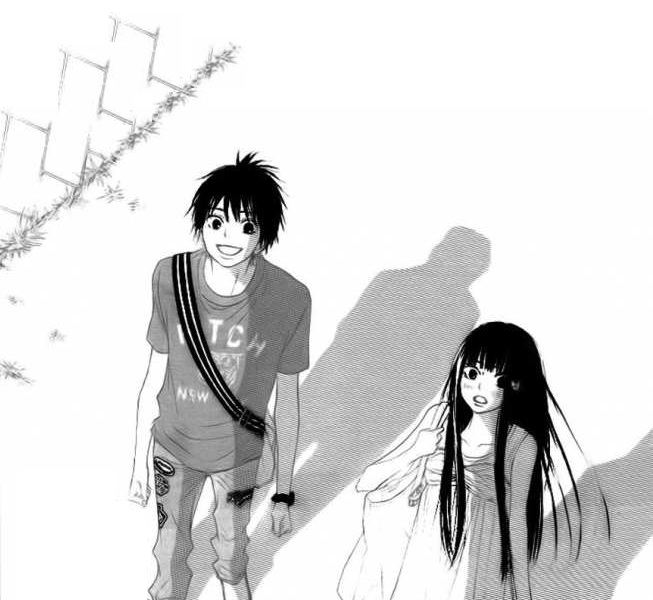 Tags: Anime, Shiina Karuho, Kimi ni Todoke, Walking, Jeans, Surprised