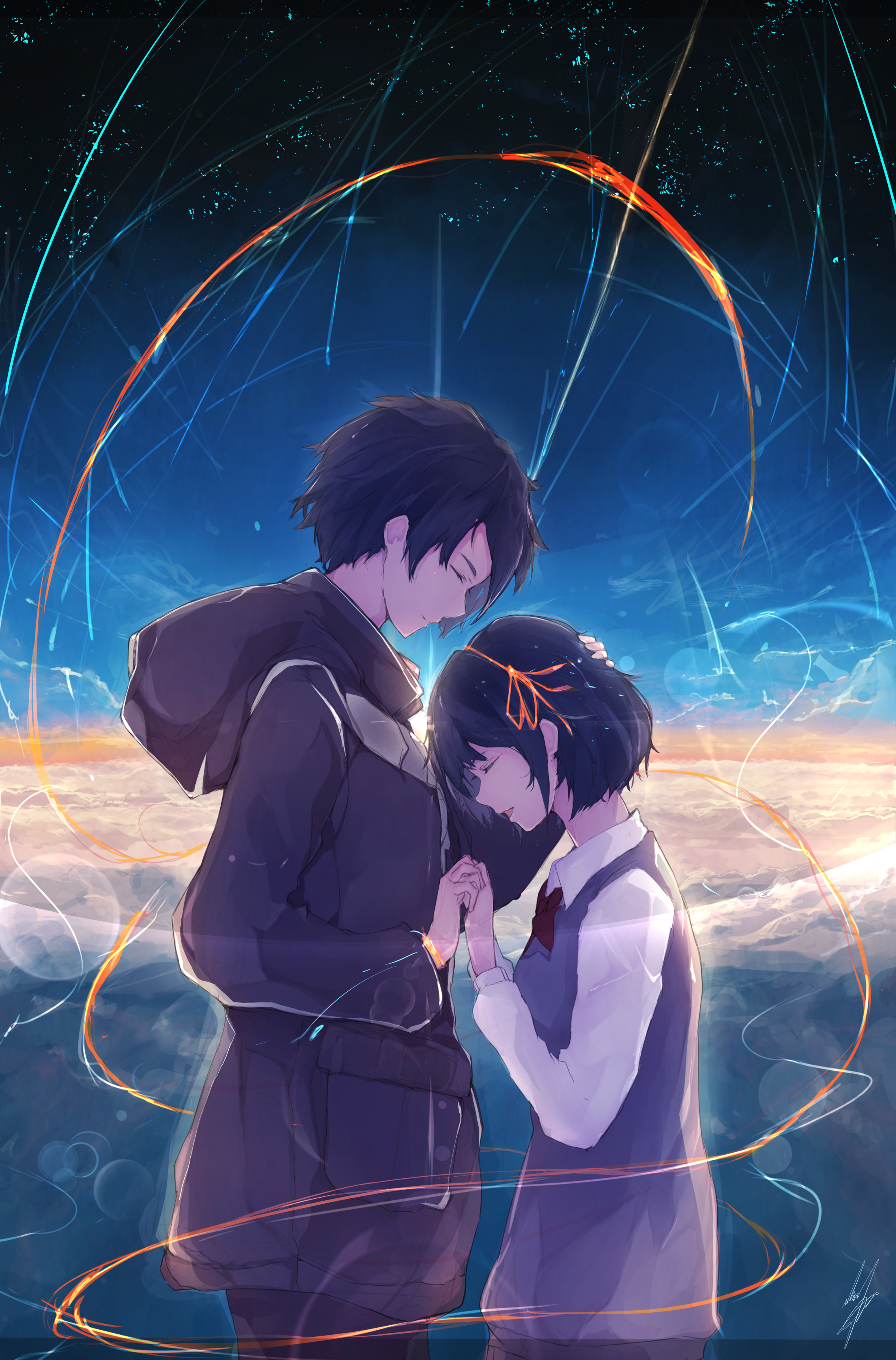 Kimi No Na Wa Your Name Mobile Wallpaper Zerochan Anime Image