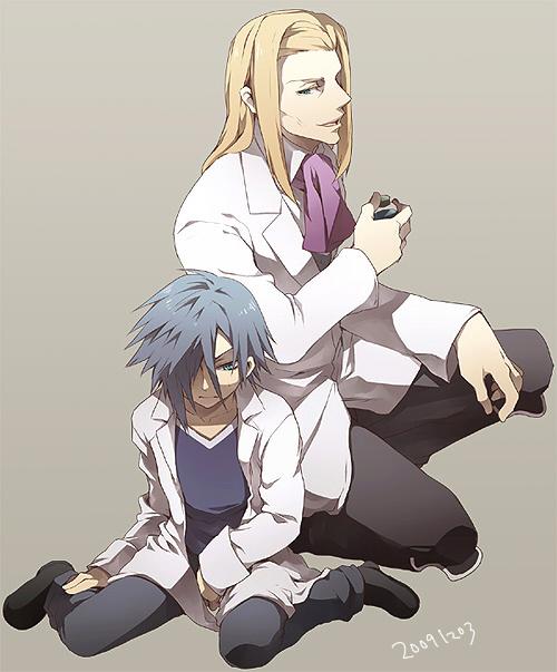 Tags: Anime, Tore (ksg666xx), Kingdom Hearts II, Kingdom Hearts: Birth by Sleep, Zexion, Even, Vexen, Ienzo, Fanart, Pixiv, Organization XIII