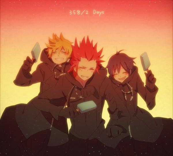Xion And Roxas And Axel Axel Kingdom Hearts Roxas And
