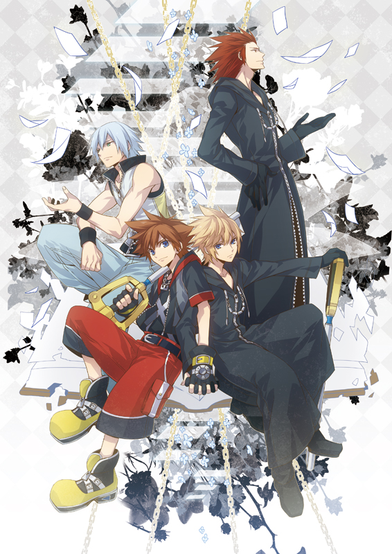 Tags: Anime, ryugo, Kingdom Hearts 3D: Dream Drop Distance, Kingdom Hearts II, Kingdom Hearts, Kingdom Hearts 358/2 Days, Lea, Roxas, Riku (Kingdom Hearts), Axel (Kingdom Hearts), Sora (Kingdom Hearts), Mobile Wallpaper, Fanart