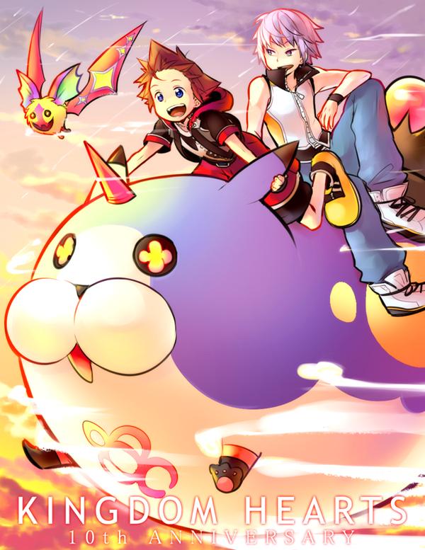 Tags: Anime, KL, Kingdom Hearts 3D: Dream Drop Distance, Kingdom Hearts, Sora (Kingdom Hearts), Riku (Kingdom Hearts)