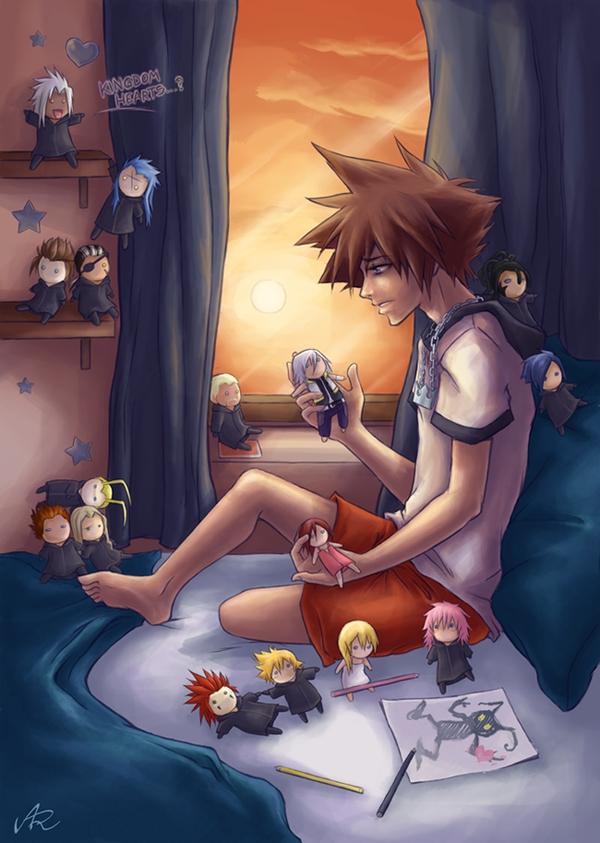 Tags: Anime, Kingdom Hearts 358/2 Days, Kingdom Hearts, Kingdom Hearts II, Roxas, Lexaeus, Marluxia, Naminé, Vexen, Axel (Kingdom Hearts), Larxene, Kairi (Kingdom Hearts), Xaldin